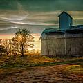 Barn At Sunset by John Ullrick