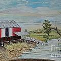 Barn Beside Cooks Creek 2 - Sold by Judith Espinoza