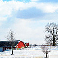 Barn Covered With Snow by Tina M Wenger