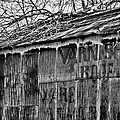 Barn Ghost Sign In Bw by Greg Jackson