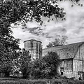 Barn In Black And White by Margie Hurwich
