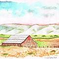 Barn In Cambria - California by Carlos G Groppa