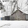 Barn In Snow by Robert Camp