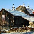 Barn In Snow by Sally Weigand