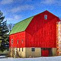 Barn In Winter by Dean Wittle
