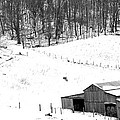 Barn In Winter by Todd Hostetter