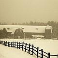 Barn Lake Placid N Y by John Schneider