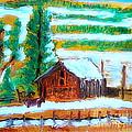 Barn Near Loa Utah 1 by Richard W Linford