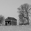 Barn On A Hill In Iowa by Greg Matchick