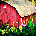 Barn Red Sunset by Chastity Hoff
