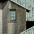 Barn Roofs At The Crane Estate by David Stone