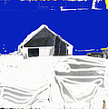 Barn Snow Storm Rc Guss Photo 1951 Collage St. Paul Park Minnesota Color Drawing Added by David Lee Guss