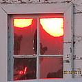 Barn Window Sunset Up Close by Tina M Wenger
