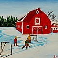 Barn Yard Hockey by Anthony Dunphy