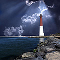 Barnegat Inlet Lighthouse Nj by Skip Willits