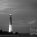 Barnegat Lighthouse Black And White by Michael Ver Sprill