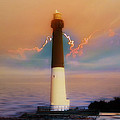 Barnegat Lighthouse In New Jersey by Bill Cannon