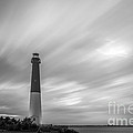 Barnegat Lighthouse Le Sunset Bw by Michael Ver Sprill