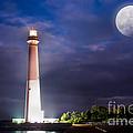 Barnegat Lighthouse Super Moon by Michael Ver Sprill