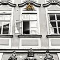 Baroque Window Facade With Gilded Eye Of Providence by Menega Sabidussi