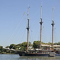 Barquentine Peacemaker On The Savannah River by Bradford Martin