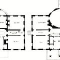 Barrel House Floor Plan In Landscape by Suzanne Powers