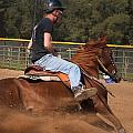 Barrel Racing by Jack R Perry