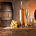 Barrels Grapes by Tian Chen