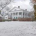 Barrington Hall In The Snow by Steve Grundy