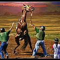 Barrington Harvey Looks On Horse Peekarandoconer Moment by Blake Richards