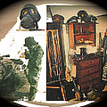 Barry Sadler And Part Of His Weapon's  Nazi Memorabilia Collection Collage Tucson Arizona 1971-2013 by David Lee Guss