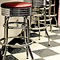 Barstools Of Vintage Roadside Diner by Phillip Rubino