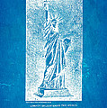 Bartholdi Statue Of Liberty Patent Art 1879 Blueprint by Ian Monk
