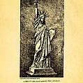 Bartholdi Statue Of Liberty Patent Art 1879 by Ian Monk