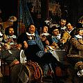 Bartholomeus Van Der Helst Banquet Of The Amsterdam Civic Guard In Celebration Of The Peace Of Munst by MotionAge Designs