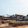 Base Camp Artillery Guns Self-propelled Howitzer M109 Camp Enari Central Highlands Vietnam 1969 by California Views Mr Pat Hathaway Archives