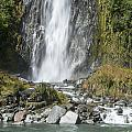 Base Of Thunder Creek Falls by Bob Phillips