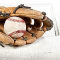 Baseball And Mitt by Jennifer Huls