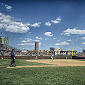 Baseball At Wrigley Field In The 1990s by Mountain Dreams