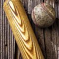 Baseball Bat And Ball by Garry Gay