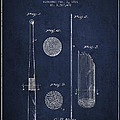 Baseball Bat Patent Drawing From 1921 by Aged Pixel