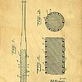 Baseball Bat Patent by Edward Fielding