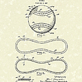 Baseball By Maynard 1928 Patent Art by Prior Art Design