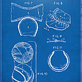 Baseball Construction Patent 2 - Blueprint by Nikki Marie Smith