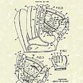 Baseball Glove 1953 Patent Art by Prior Art Design