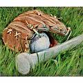 Baseball Glove Bat And Ball by Craig Tinder