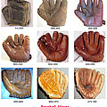 Baseball Glove Evolution by David Bearden