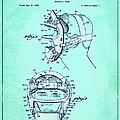 Baseball Mask Patent Blue Us2627602 A by Evgeni Nedelchev
