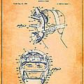Baseball Mask Patent Orange Us2627602 A by Evgeni Nedelchev