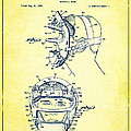 Baseball Mask Patent Yellow Us2627602 A by Evgeni Nedelchev